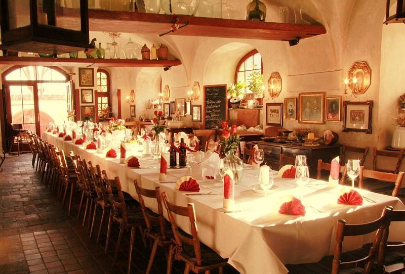 Bild: unser großer Restaurantraum im Alten Handelshaus in Plauen